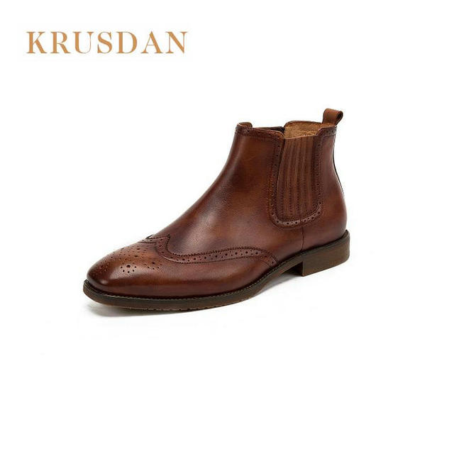 Short Chelsea boots – Theses are a little different from the regular Chelsea boots in that they are slightly shorter in length coming up to just below the ankle. This is a trendy style, that works best with more fashion forward outfits.