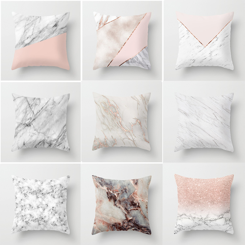 Geometric Cushion cover 45x45cm Marble Texture Throw Pillow Case Cushion Cover For Sofa Home Decor odeon light wiron 2035 1w