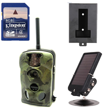 Free Shipping!Original Ltl Acorn 5210MM MMS Hunting Camera External Antenna+Free 8GB SD Card+Solar Battery+Metal Security Box