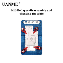 UANME Mobile Phone Motherboard PCB Repair Holder Middle Magnetic Tin-plating Platform Maintenance Fixture For iPhoneX