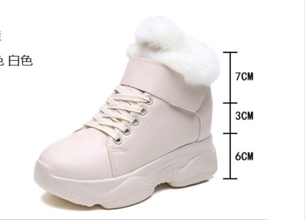 Caliente Alto Plantillas Beige La Para Piel blanco 2018 De Encaje Invierno Nieve Botas Zapatos Clásico Tacón Mujer negro Tobillo 46wAwxp