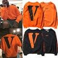 Мужчины Кофты VLONE X КРЕМОВЫЙ ВЕРГИЛИЙ ABLOH СКАЛИСТЫЕ Orange Длинным Рукавом Толстовка с капюшоном Мужская Одежда
