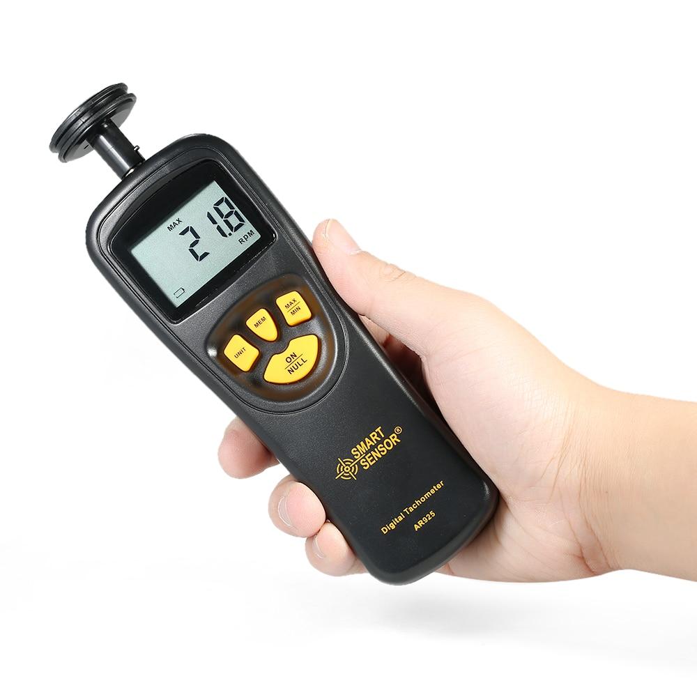 Numérique Tachymètre Contact Moteur Tachymètre Compteur numérique tachymètre compteur de vitesse 0.05 ~ 19999.9 m/min 0.5 ~ 19999 RPM Smart Sensor AR925