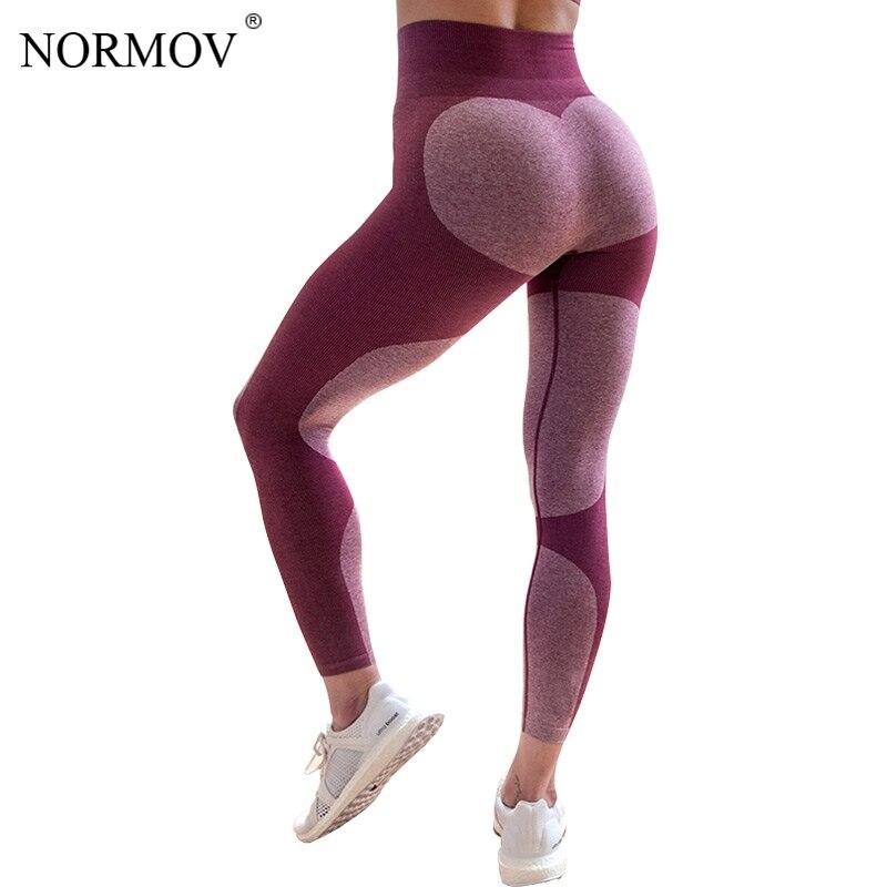 NORMOV 2018 Fashion Fitness High Waist Leggings Women Digital Print Push Up Legging Sportswear Bodybuilding Leggins S-XL 2 Color