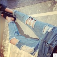 2017 Spring Women S White Cropped High Waist Stretch Denim Skinny Ankle Jeans Jean Capris For