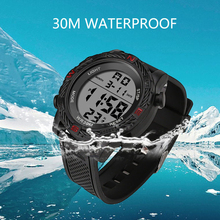 купить Casual LED Watch Retro Sports Digital Display Date Silica gel Strap Quartz Watch Electronics Clock Wristwatch Relogio Masculino дешево