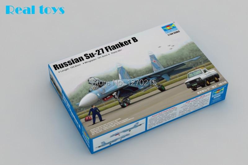 Trumpeter model 03909 1 144 Russian Su 27 Flanker B plastic model kit