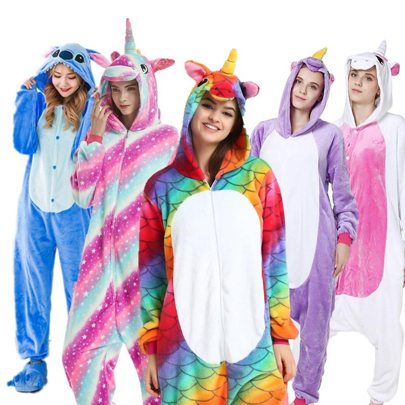 AFEENYRK unicorn Womens Soft comfortable Pajamas Set Sleepwear Loungewear Pajamas Unisex Homewear For girl/ boys/Sleepwear Adult-in Pajama Sets from Underwear & Sleepwears