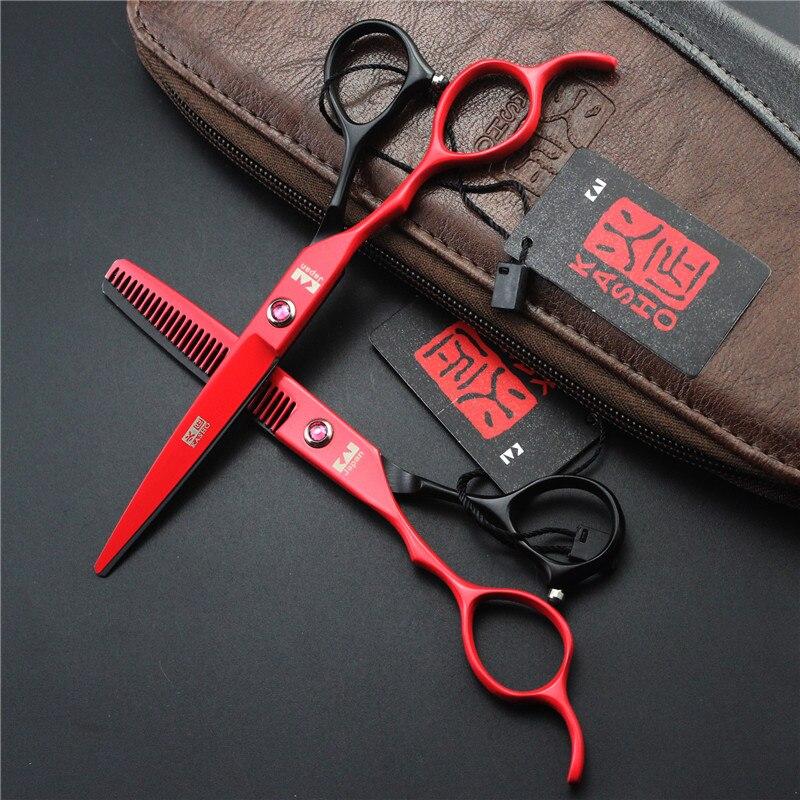 kasho 6 inch Left Handy Professional Hairdressing Scissors Salon Equipment  Hair Makas for Barber Left Hand Shears Kit Set