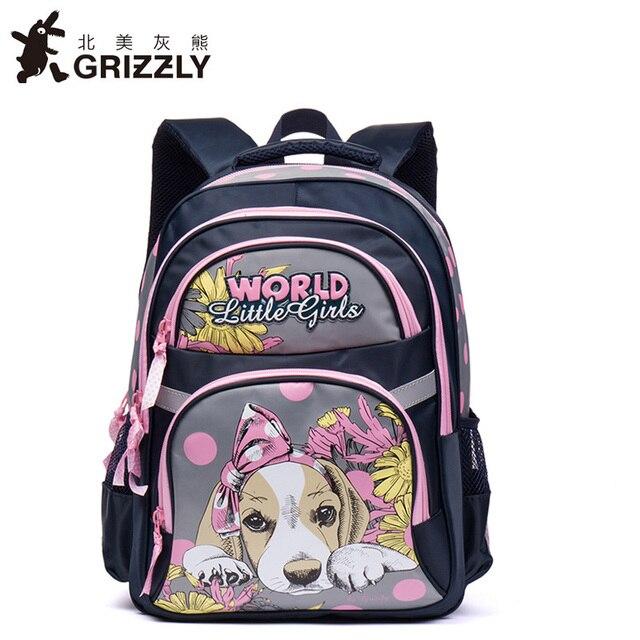 32e2a375d7cd57 Grizzly Ortopedico Sacchetti di Scuola vendita zaino zainetto per le  Ragazze capretti del bambino borse Grade1