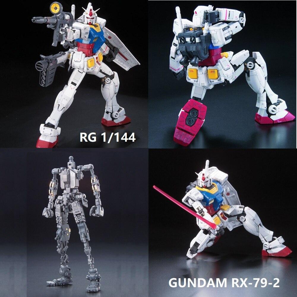 Bandai Gundam RG 1/144 Model RX-78-2 UNICORN GUNDAM Freedom Unchained Mobile Suit Kids Toys