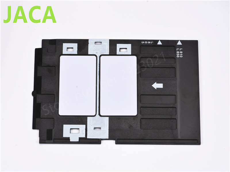 PVC ID Card Tray Plastic card Printing Tray for Epson P50 L800 L801 R330 R260 R265 R270 R280 R290 R380 R390 RX680 T50 T60 A50 high quality original renew cartridge chip detection board for epson r290 r270 r390 t60 me1100 t50 chip contact plate