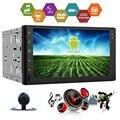 """Свободная Камера Android 5.1 Двойной 2 Din Автомобильный GPS Навигации Радио Плеер Автомобиля Стерео HD Multi-touch 7 """"экран Головное Устройство Wi-Fi НЕТ DVD"""