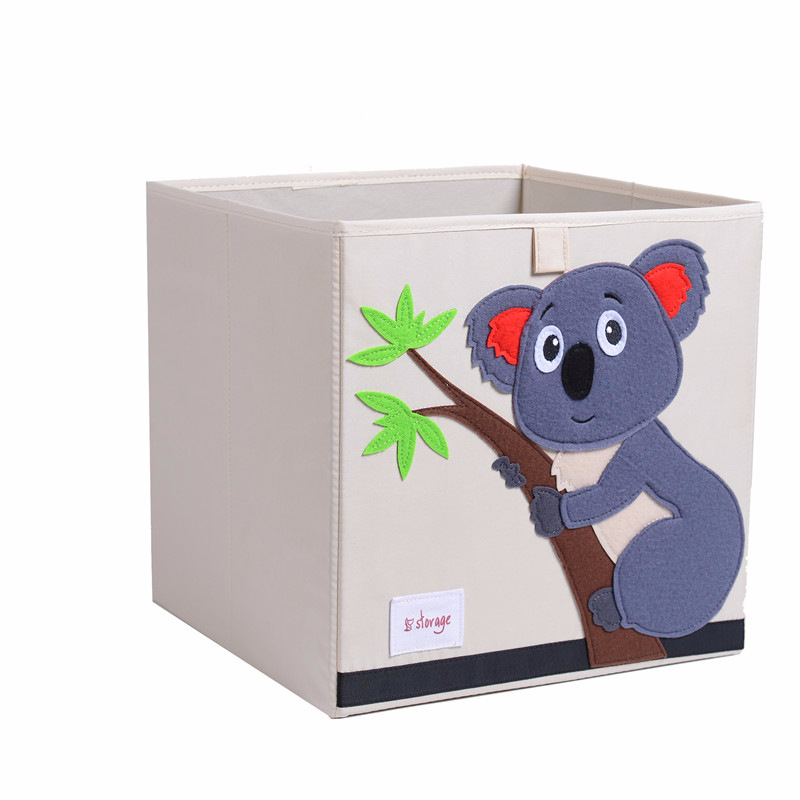Cute Animal Collapsible Toy Storage Organizer Folding: New Folding 3D Kid Animal Cartoon Toy Storage Box Children