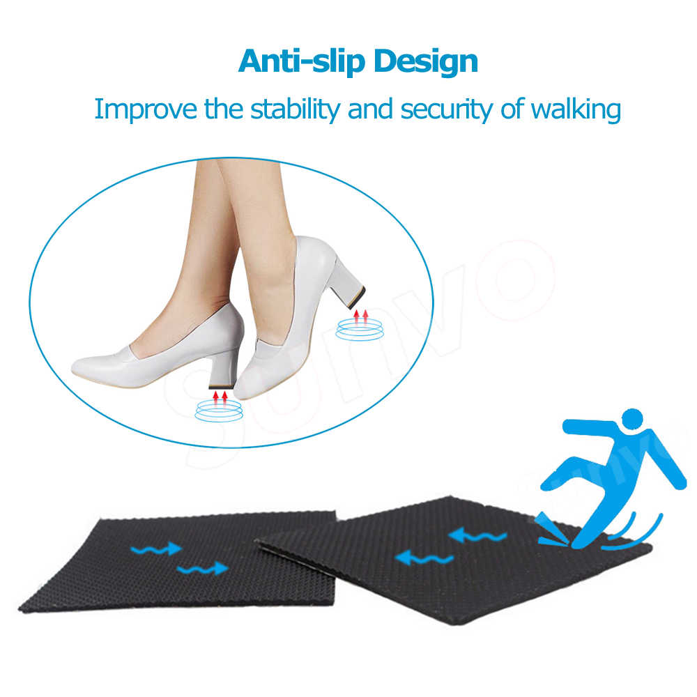 2 adet Kaymaz ayakkabı tabanı Koruyucu Ped Kadınlar için Yüksek Topuk Sandalet Taban Kauçuk Yapıştırıcı Zemin Kavrama Ayakkabı Alt sticker Pedleri