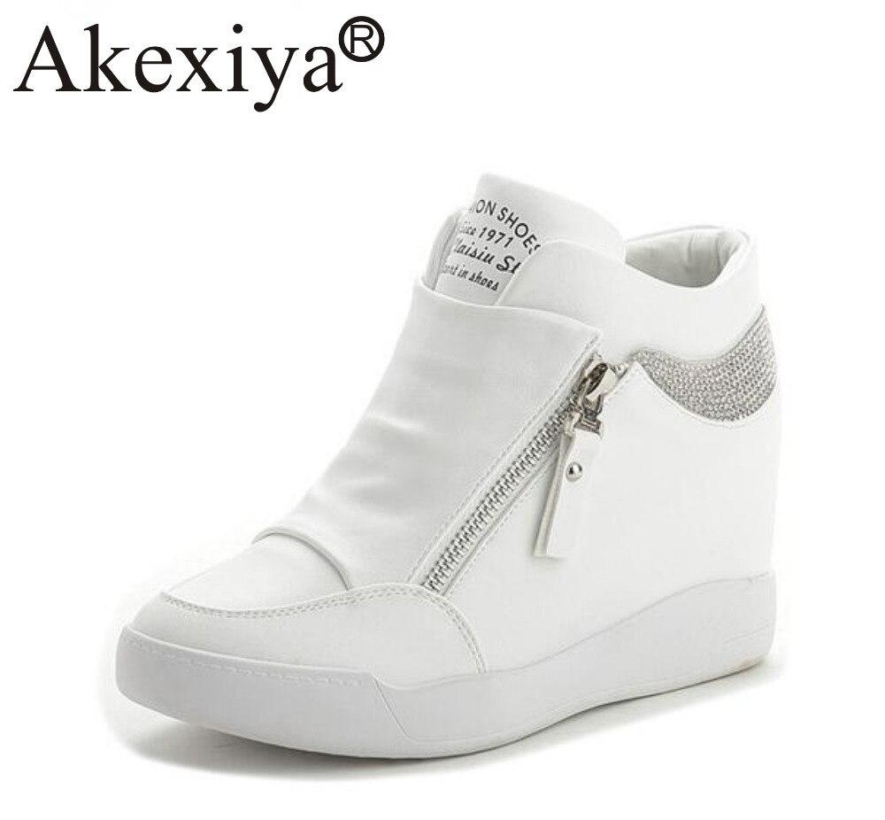 Akexiya Hot Sale New Wedge Sneakers Hidden Heels Women