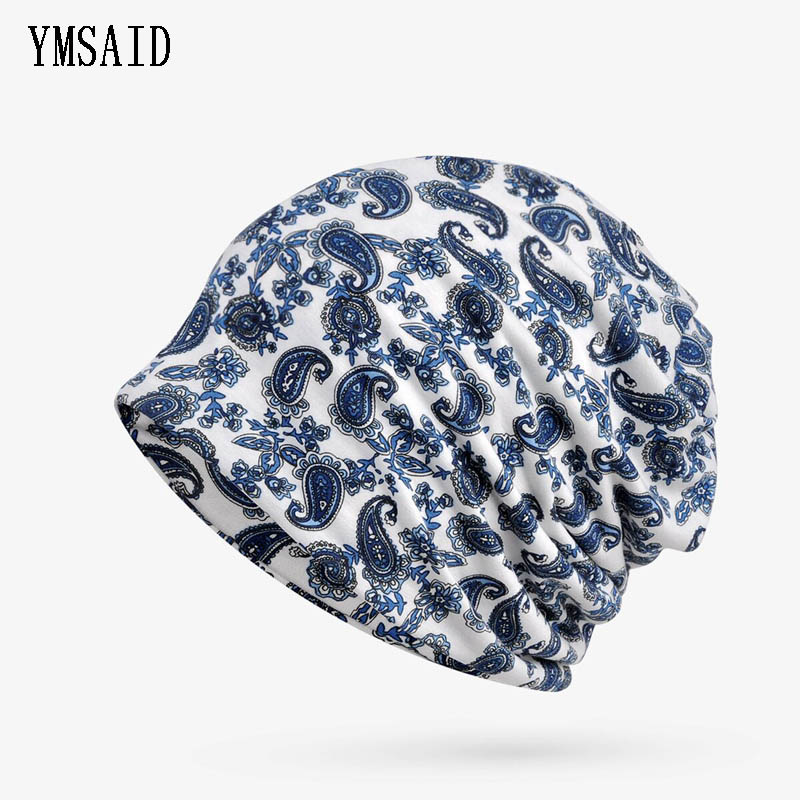 Ymsaid 2 in 1 Women Hedging Cap Skullies Beanies Knitting Caps Bonnet Double Layer Cotton Knitted Hat Lace Cap Summer Autumn