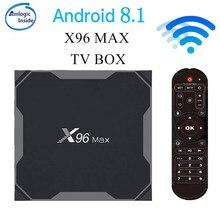 X96 Max Smart TV BOX Android 8.1 Amlogic S905X2 LPDDR4 Quad Core 4GB 64GB 2.4G&5GHz Wifi BT 1000M 4K X96Max Set-top box tvbox h96 max 4gb 64gb smart android 8 1 tv box 2 4g 5 8g wifi bt 4 0 amlogic s905x2 quad core 4gb 32gb 4k hd set top box pk x96 max