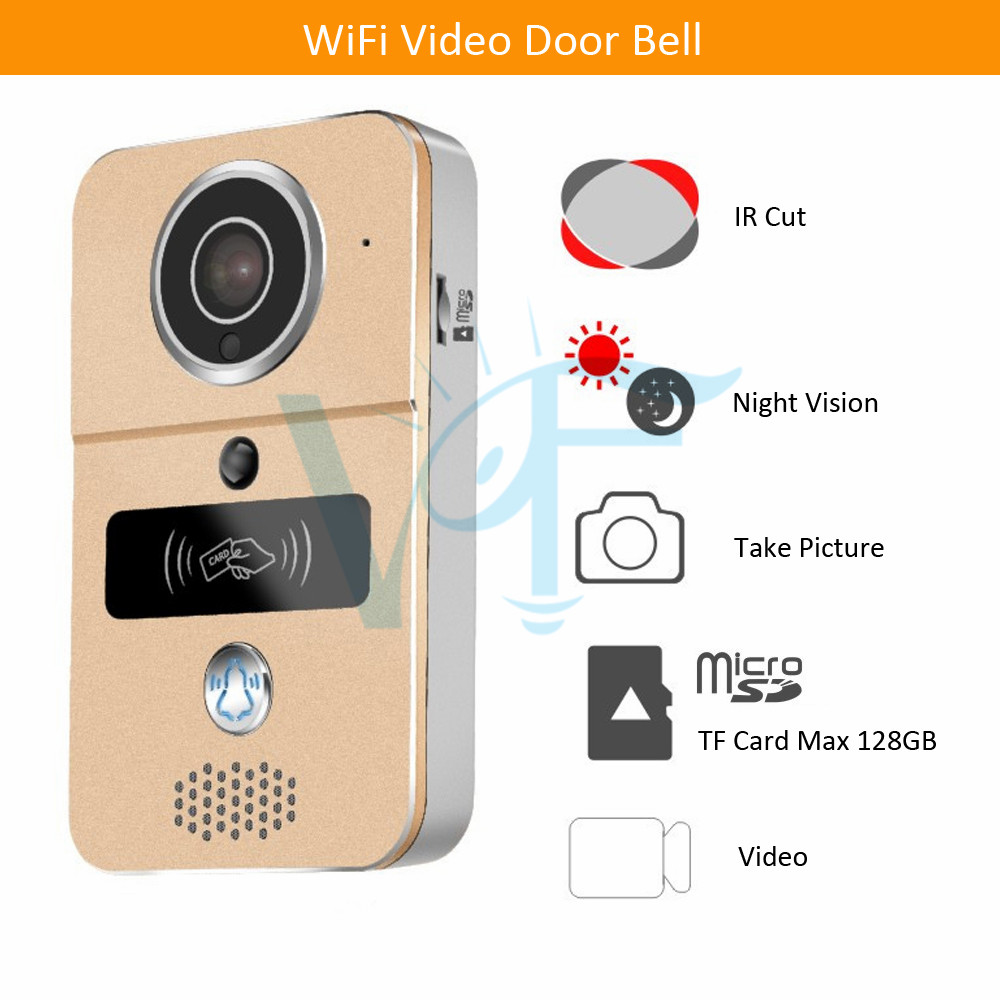 Hardware 10pcs/lot Free Dhl Shipping Long Range Wireless Doorbell Camera Waterproof Rainproof Video Door Phone Audio Doorphone Vf-db04 100% Guarantee