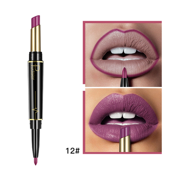 Pudaier Matte Lipstick Wateproof Double Ended Long Lasting Lipsticks Brand Lip Makeup Cosmetics Nude Dark Red Lips Liner Pencil 3