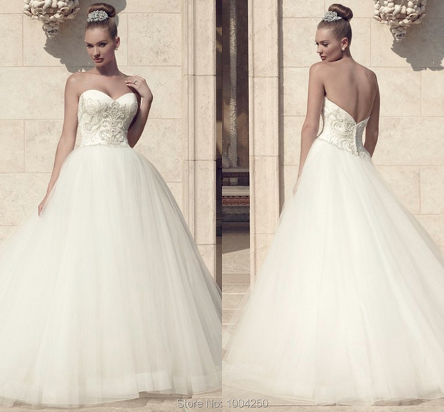 Por Design Casablanca Wedding Dress 2016 Sweetheart Off Shoulder Ball Gowns Free Shipping Bridal