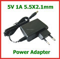 2pcs Universal Power Adapter 5V 1A 5.5x2.1mm Charger EU US Plug Power Supply for Digital Frame etc