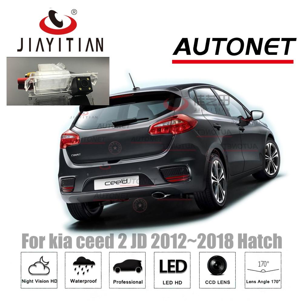 лучшая цена JIAYITIAN rear view camera For kia ceed 2 JD Cee'd 2012~2018 Hatch CCD/Night Vision/License Plate camera Backup Reverse Camera