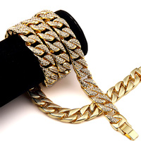 2017 Hip Hop Jewelry Big Necklace Mens Jewellery Hipster Rock Hiphop Gold Chains For Men Necklace