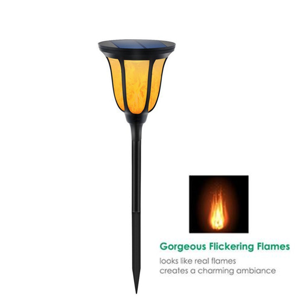 IP65 LED Solar Dancing Flame Flickering Light Solar Powered Lawn Lamp with Light sensor for Path Garden Outdoor Holiday Deco