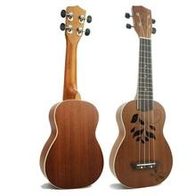 Дешевые 21 Inch Four String Carving Sand Billy Uicker In Small Guitar school educational musical music instrument tools WJ-JX11