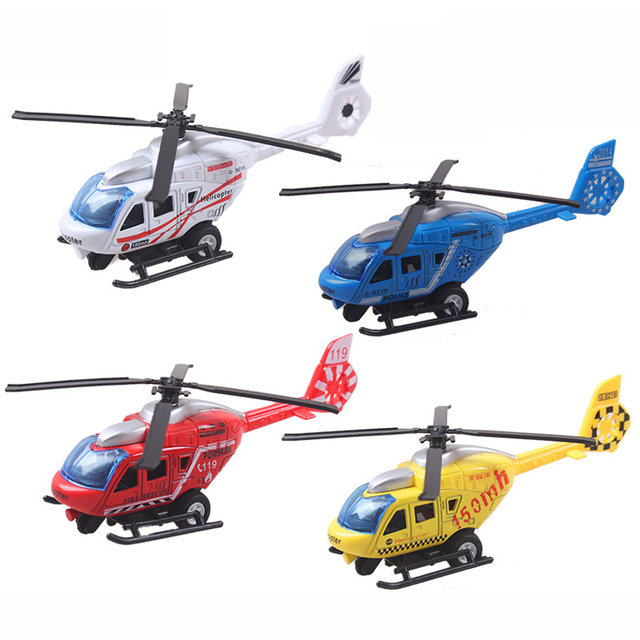 Pull Back Alloy Helicopter Model Toys Brinquedos Drone Plane Toy Juguetes Kids Boy Classic 4