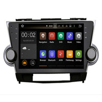 2 din 10.2 inch PIP Octa 8 Core 4G+32Gb Android CAR Radio DVD Player for Toyota Highlander 2008 2014 car dvd navigation wifi BT