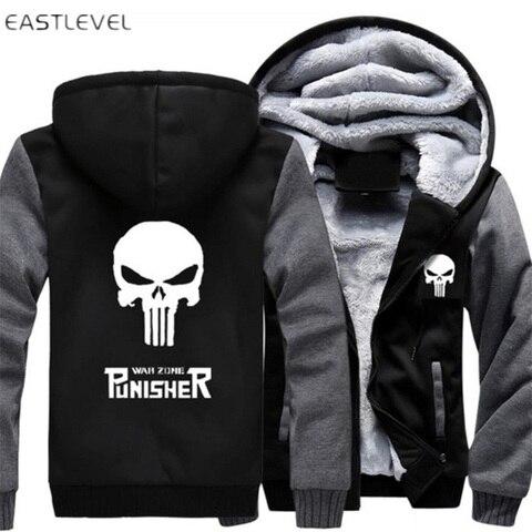 Dropshipping Men Hoodies Punisher Skull Casual Hoodies for Men Women Thicker Fleece Coat Jacket Unisex Sweatshirts plus size 6XL Karachi