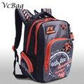 2016 Новый Grizzly Подросток Дети Школьный Мода Скорость Автомобиля Печать Рюкзак Большой Емкости Путешествия Рюкзак для Мальчиков