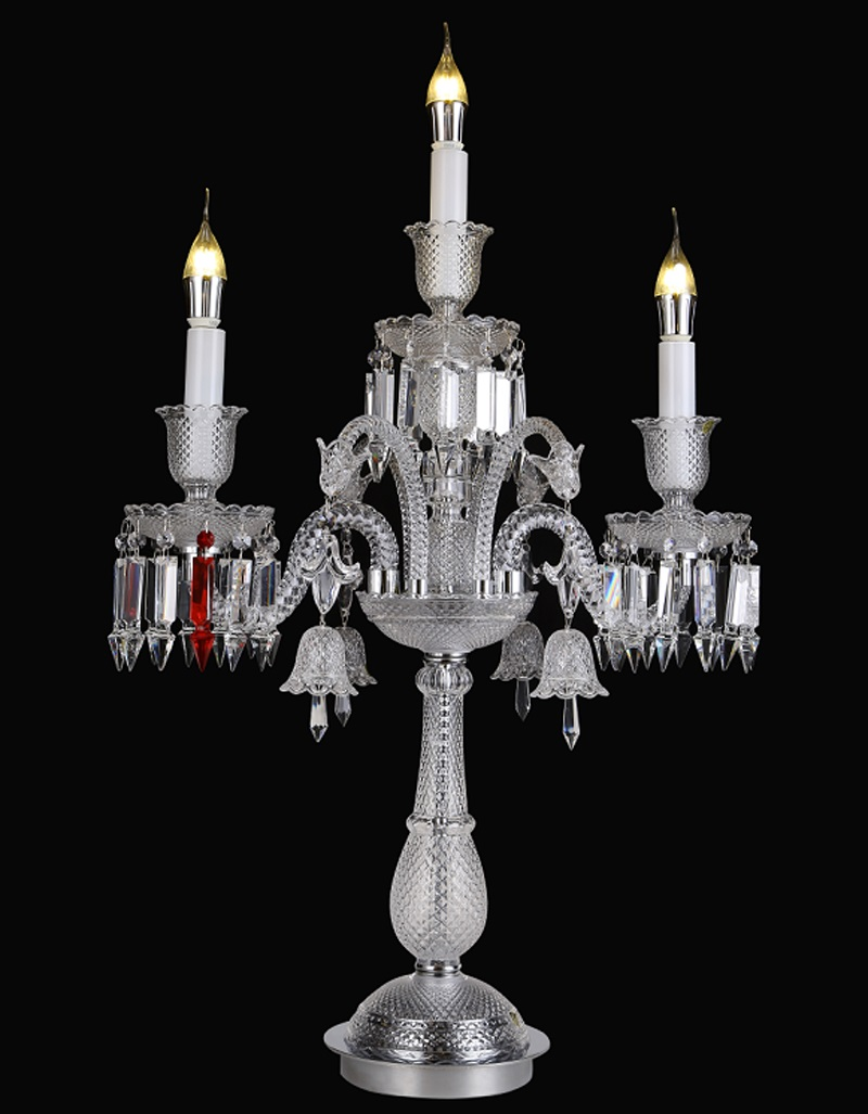Image of: European Baccarat Crystal Candle Table Lamp Living Room Bedroom Bedside Decoration French Crystal Candle Table Lamp Table Lamps For Bedroom Table Lampclassic Table Lamps Aliexpress