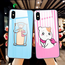 Tempered glass pet couple For iphone 8 case xs xr xsmax phone Apple 6plus