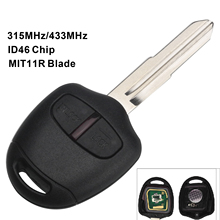 maizhi  315/433mhz ID46 Chip 2 Buttons Remote Car Key Shell Key Cover for Mitsubishi Outlander ASX 2006-2015 MIT11R Profile
