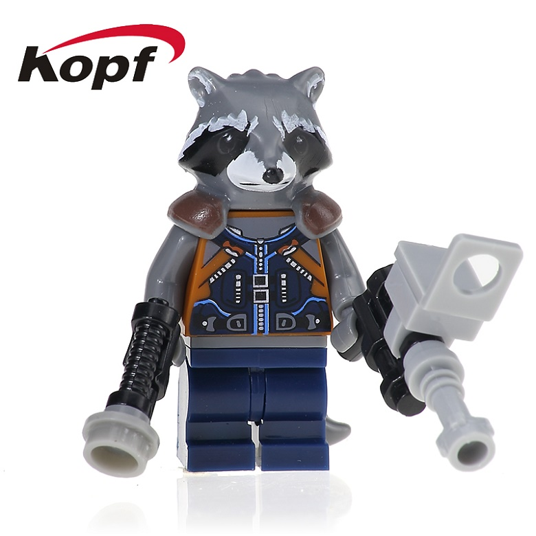 20Pcs XH 607 Building Blocks Super Heroes Racket Racoon Guardians of the Galaxy Nebula Bricks Learning Model Toys For Children