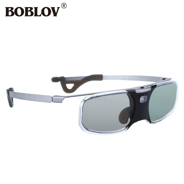 BOBLOV RX-30 3D DLP-Link 96-144Hz gafas de obturador activo 8 M recargables para proyector de enlace DLP