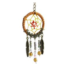 Handmade Dangling Feather Tassels Turquoise Charms Dreamcatcher Pendant Keyring Keychain Car & Bag Hanging Ornament