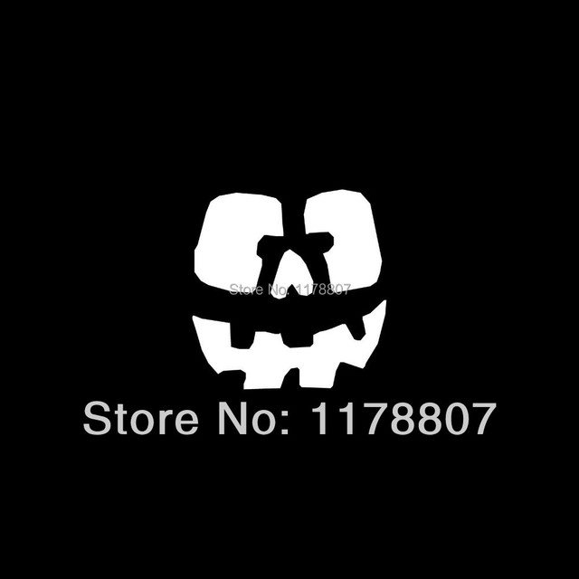 Pumpkin face sticker cute for car window truck vinyl decal halloween jack o lantern boo