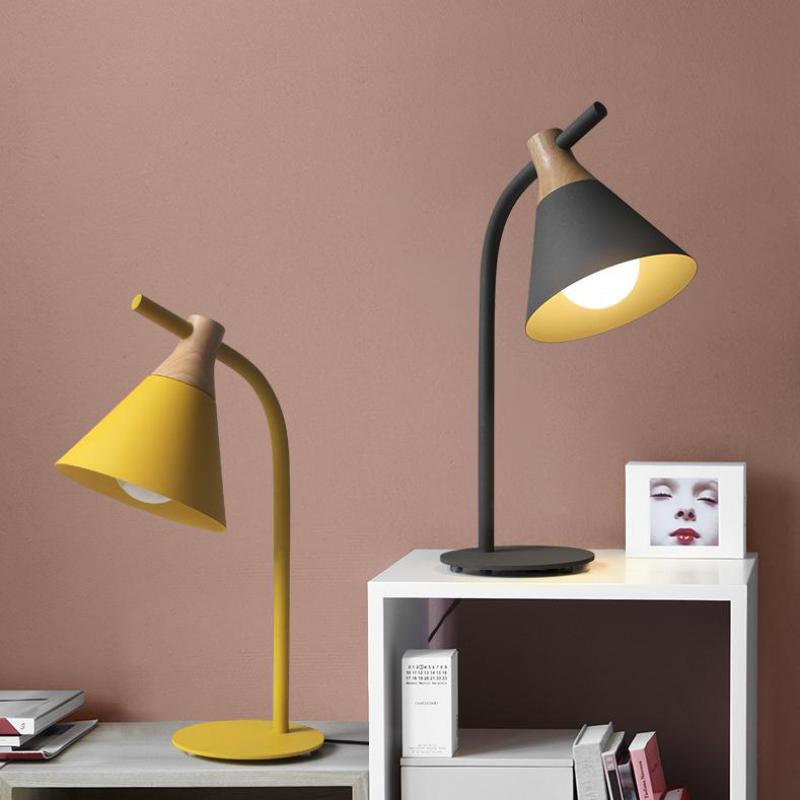 1 Stks Kinderkamer Led Leestafel Bureaulamp Moderne Leren Bureau Verlichting Abajur Tiener Slaapkamer Studie Art Deco Tafel Lampen