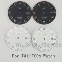 33.9 milímetros relógio de marcação para T41/T006 masculino mecânica L164/264-1 texto relógio acessórios relógio T41 peças de reparo