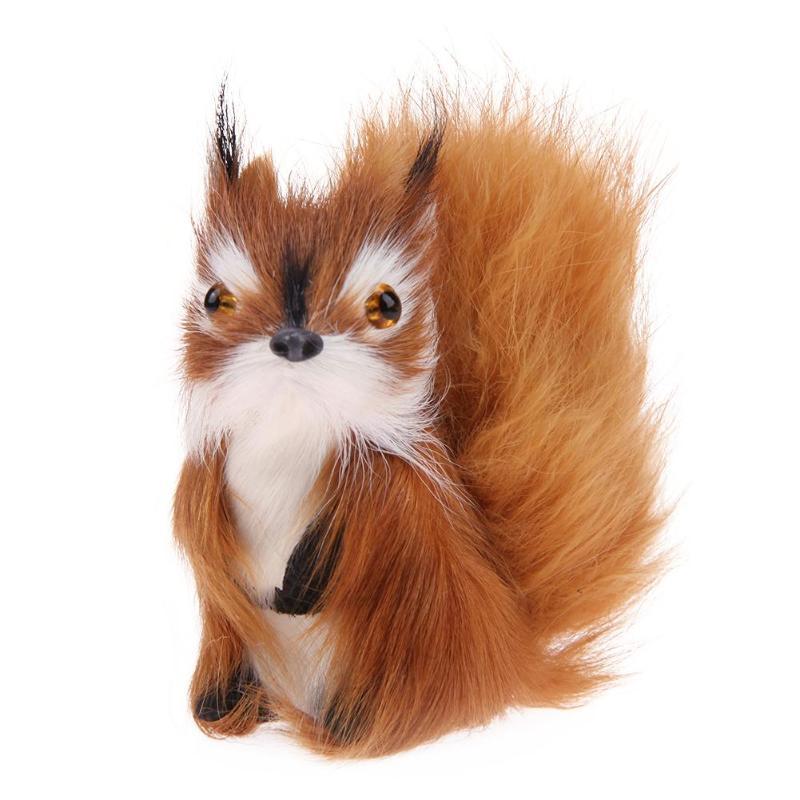 Simulation Squirrel Doll Creative Home Decoration Plush Animals Squirrel Toys Ornaments Cute Kids Toys Birthday Gift