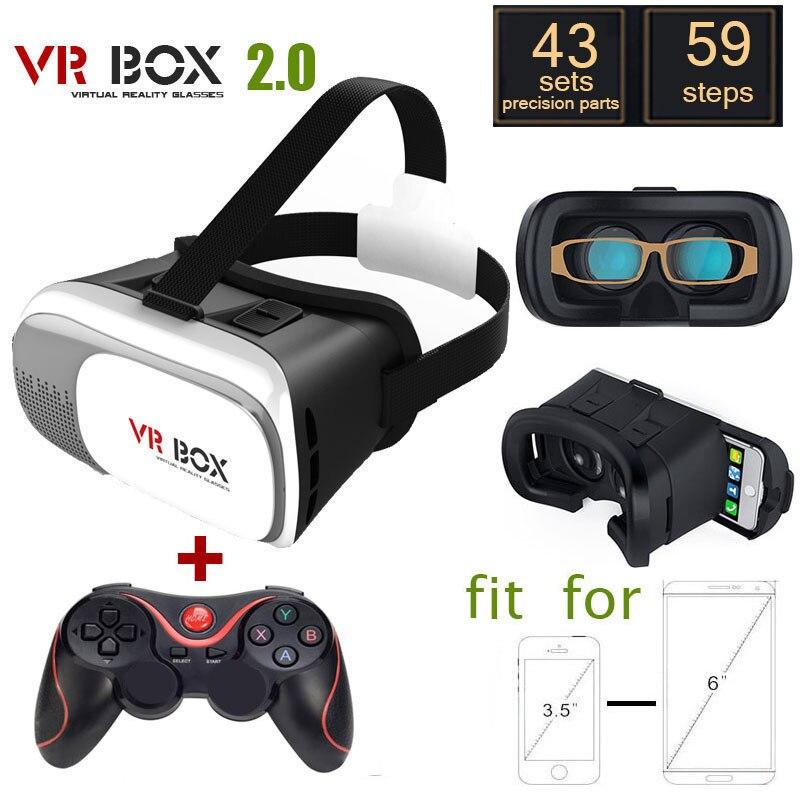 <font><b>VR</b></font> BOX 2.0 Version <font><b>VR</b></font> <font><b>Virtual</b></font> <font><b>Reality</b></font> <font><b>Glasses</b></font> + <font><b>Bluetooth</b></font> Wireless <font><b>Mouse</b></font> / Remote Control / Gamepad