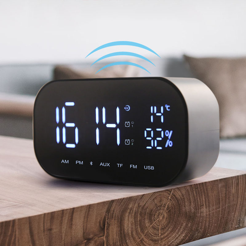 Portable Wireless Bluetooth Speakers LED Alarms Clock Radio Digital Display Home Car Bass Speaker TB Sale