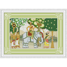 Everlasting love South Asia amorous feelings Chinese cross stitch kits Ecological cotton stamped 11 DIY new decorations for home