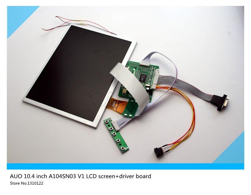 все цены на  10.4 inch LCD display for AUO TFT A104SN03 V1 LCD screen+driver board Free shipping  онлайн