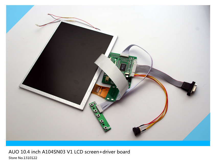 Skylarpu 10.4''inch LCD display for AUO TFT LCD csreen A104SN03 V1 LCD screen+driver board 10.4 inch LCD display Free shipping boots bronx ботинки на каблуке page 8