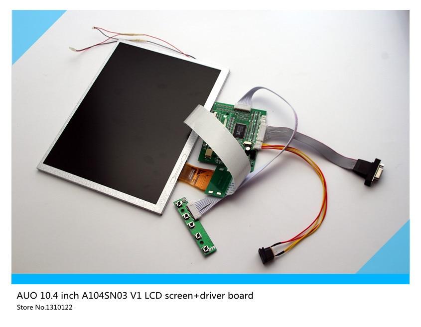 skylarpu for AUO TFT LCD csreen A104SN03 V1 LCD screen+driver board 10.4 inch LCD display Free shipping original auo 9 inch display a090vw01 v 3 lcd screen